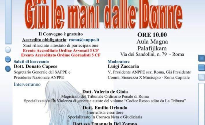 """8 Marzo, """"Giù le mani dalle donne"""" col giudice De Gioia"""