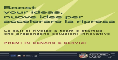 REgione LAzio: Boost Your Ideas, nuove idee per la ripresa