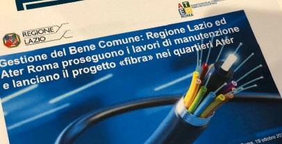 Regione Lazio. URBANISTICA: LANCIATO IL PIANO REGIONALE PER LA FIBRA NEI LOTTI POPOLARI
