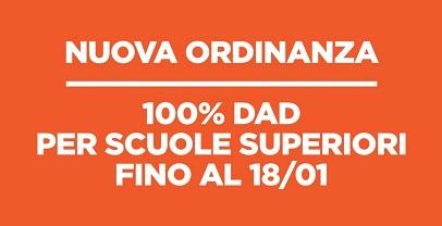 Coronavirus: Regione Lazio, 100% Dad per scuole superiori fino al 18 gennaio 2021
