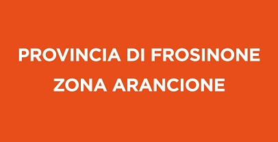 Covid – 19: da lunedì 1 marzo la provincia di Frosinone in ZONA ARANCIONE