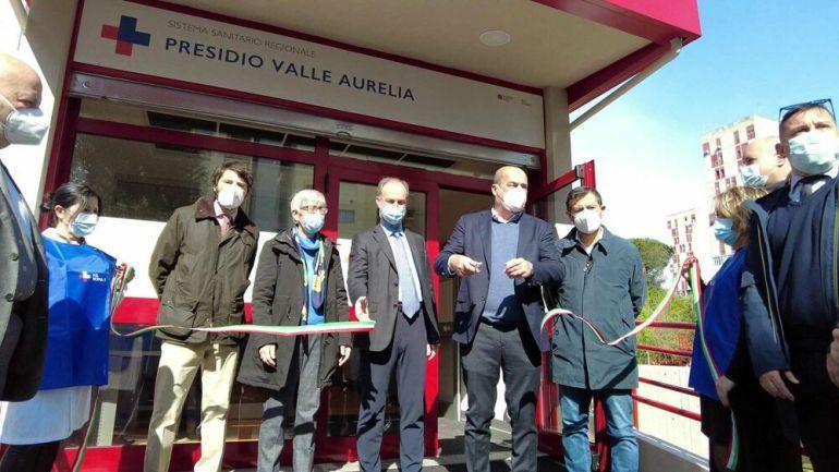 Valle Aurelia: Zingaretti inaugura centro prelievi