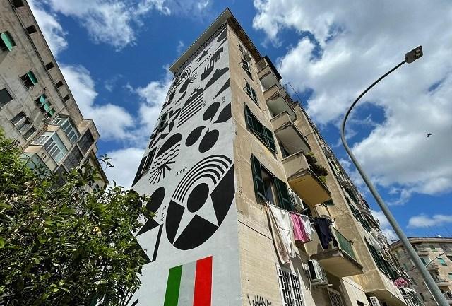 """Inaugurato murale sulla """"Costituzione più bella del mondo"""""""