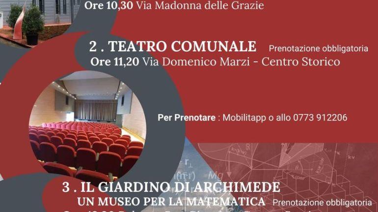 Regione Lazio. Inaugurati a Priverno Teatro comunale e museo della matematica