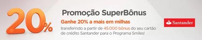 Promoção Smiles - Santander