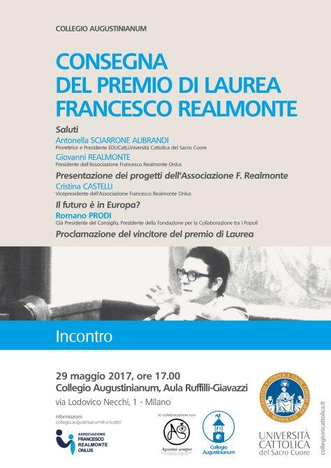 Programma premio Realmonte 29 maggio 2017