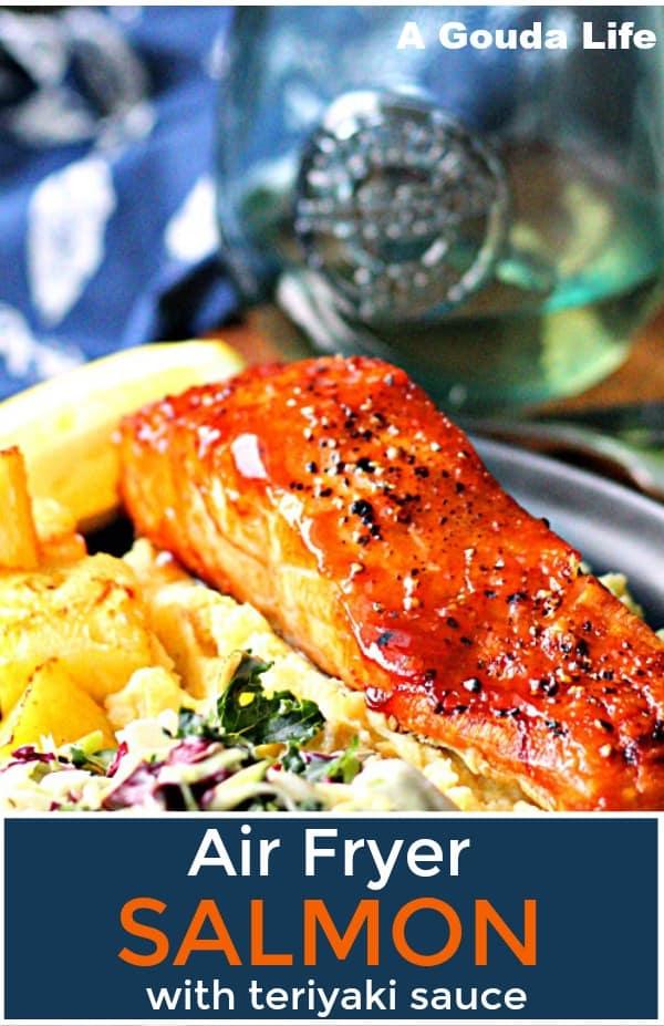 pinterest pin for air fryer salmon