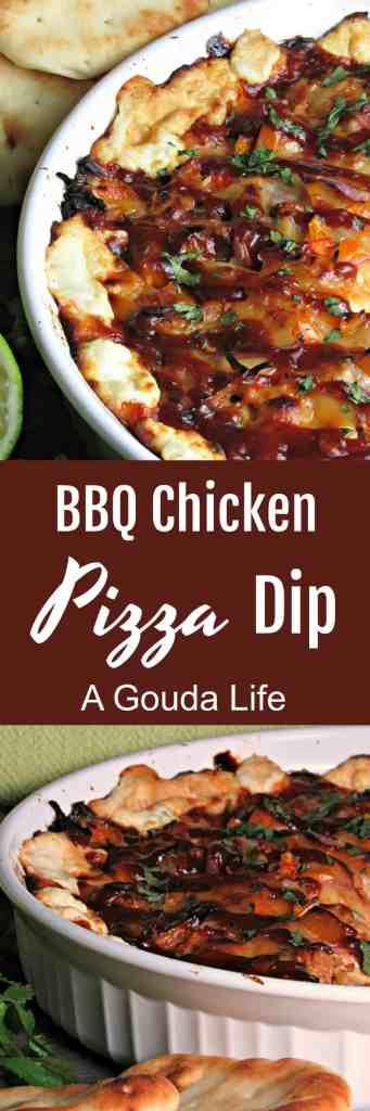 bbq chicken pizza dip pinterest pin