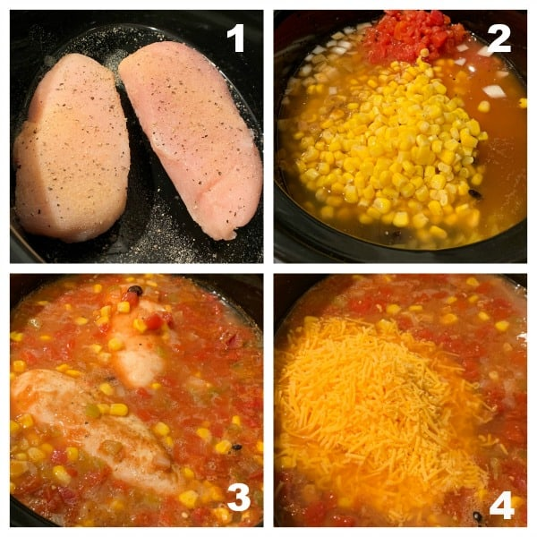 how to grid show steps to make soup