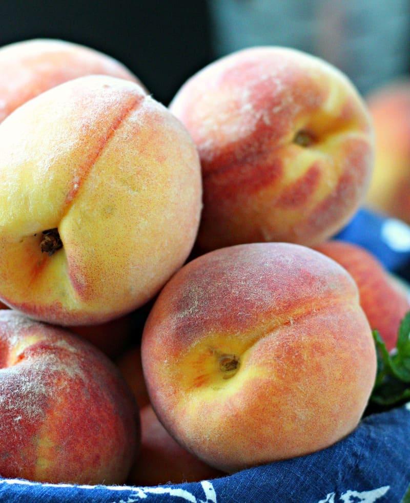 peach galette recipe ~ Peach Galette Recipe ~ basket of whole fresh peaches