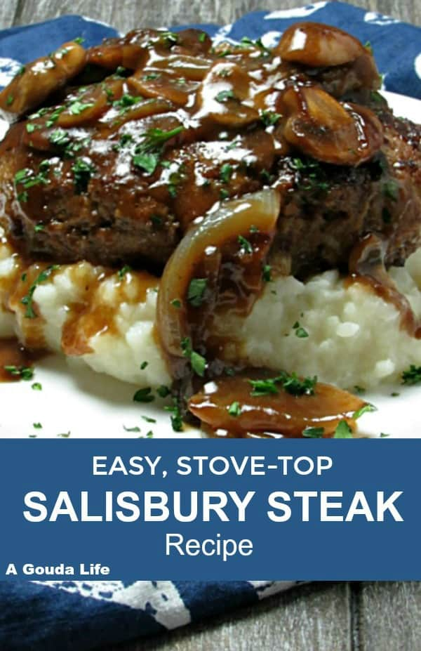 Best Salisbury Steak: budget-friendly, seared ground beef patties slathered in rich onion-mushroom gravy, serve over mashed potatoes~easy, any night meal.