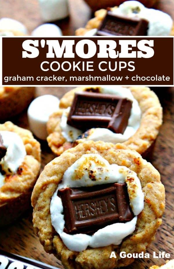 pinterest pin: graham cracker cookie crust filled