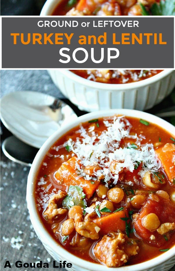 turkey and lentil soup pin