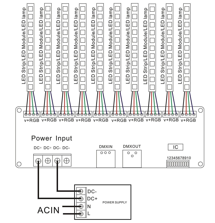 30 Channel Easy Dmx512 Led Rgb Controller 30ch Dmx Dimmer