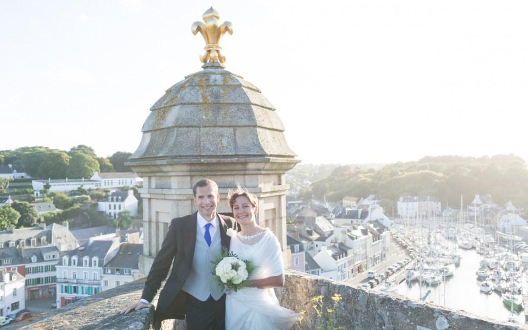 Mariage à la citadelle Vauban de Belle-Ile.