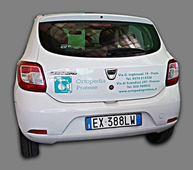 Dacia Sandero - Prespaziati PVC per Ortoperdia Pratese - Retro