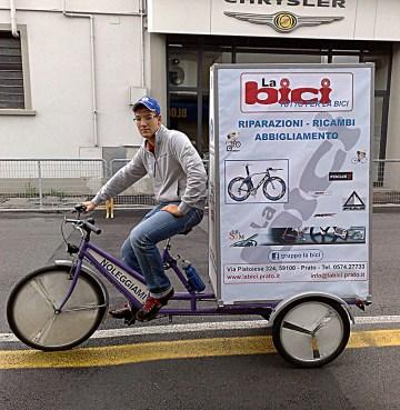 Annalisa la bici che avvisa pubblicità La Bici