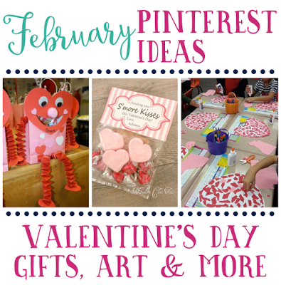 February's favorite pin ideas for Valentine's Day. Includes Valentine's Day gifts, art and more!