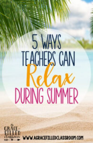 Teachers work hard all year long and summer time is the perfect time to relax and re-energize! Maybe one of these will work for you, may favorite is number 5!