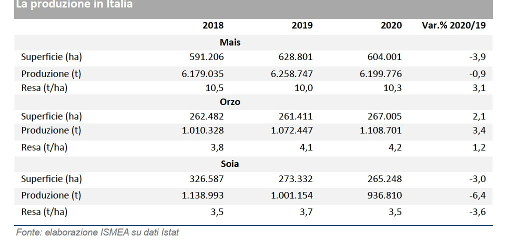 Produzione mondiale di mais in crescita del 2,8%, +9,4% per la soia