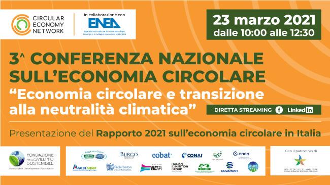 Rapporto sull'economia circolare 2021: presentazione online il 23marzo