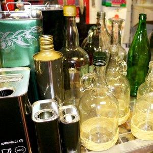Lattine per olio, bottiglie e oliere - Certaldo