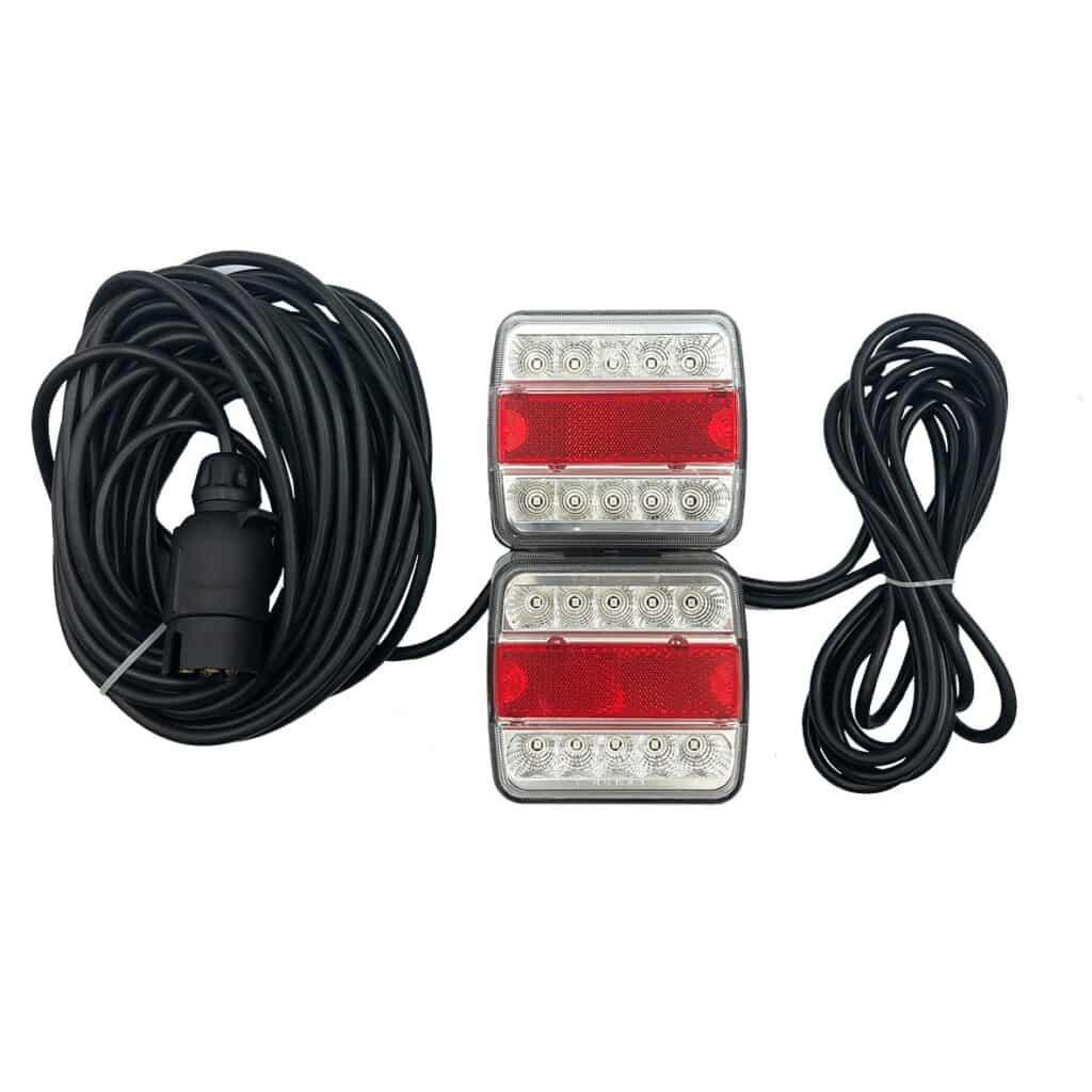 Led Beleuchtungsset Fur Anhanger Mit Magnet 12 V 7 5 Meter Kabel Agrarled De