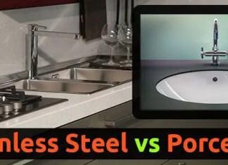 Stainless Steel Sink vs Porcelain
