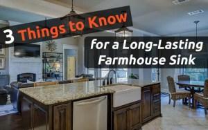 3 Advises for long-lasting Farmhouse sink