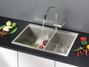 Ruvati 33 x 22 Inch Drop-in 60 40 Double Bowl 16 Gauge Zero-Radius Topmount Stainless Steel Kitchen Sink