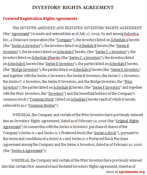 Investors Agreement Template template free microsoft word – Investor Agreement Template Free