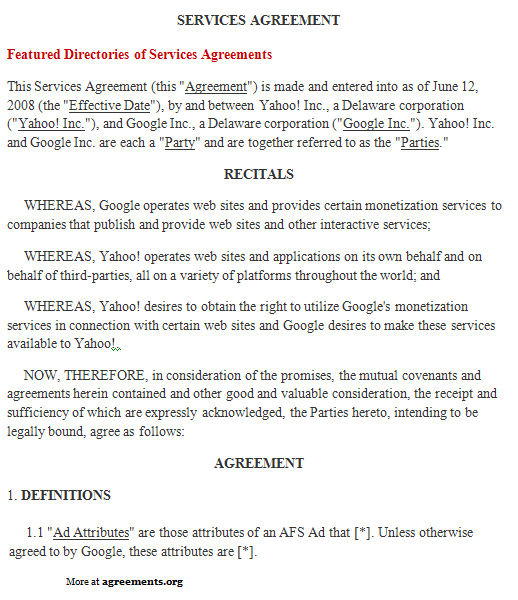 independent contractor agreement form template with sample – Service Agreement Template Word