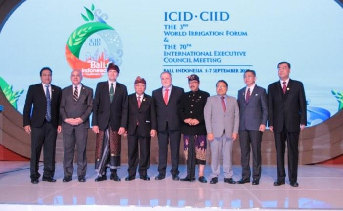 Participation du Maroc au Troisième Forum mondial de l'irrigation à Bali – Indonésie, 1-7 septembre 2019.