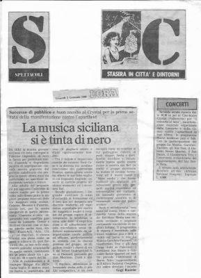 Agricantus Attività culturali 1986