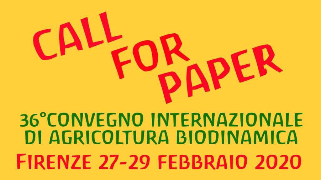 E' aperta la Call for paper al 36° Convegno internazionale di biodinamica