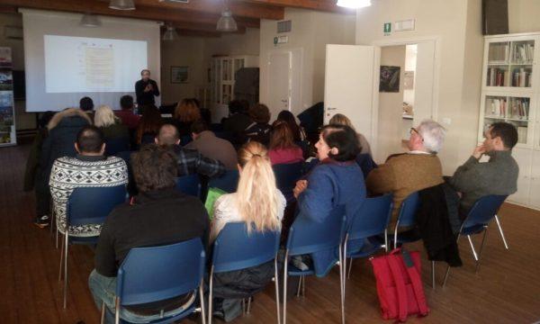 Un momento del seminario al Padule di Fucecchio
