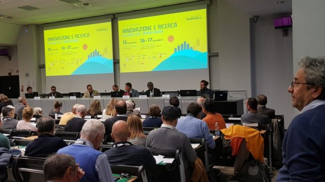La sala del convegno, Milano 2018