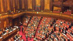 L'aula del Senato, a Palazzo Madama