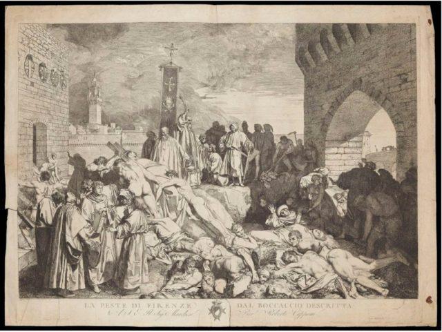 La peste di Firenze nel 1348 di Luigi Sabatelli