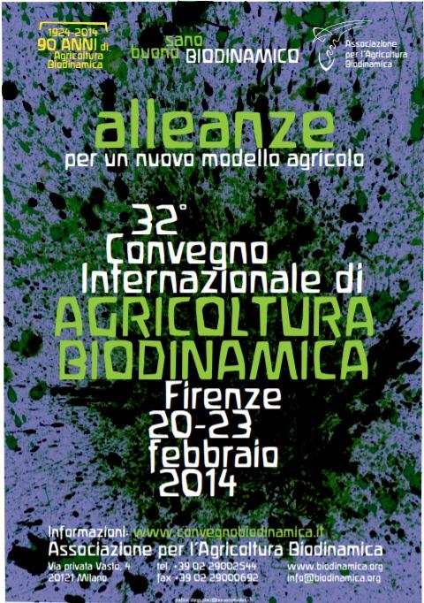 La locandina del 32° convegno di Agricoltura biodinamica