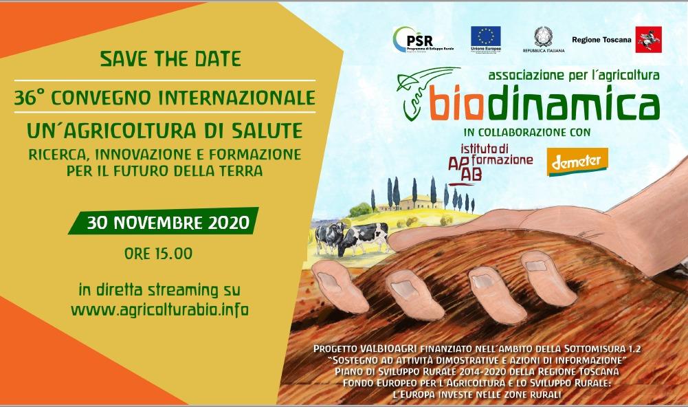 Lunedì 30 novembre on-line con il secondo webinar del Convegno internazionale di biodinamica