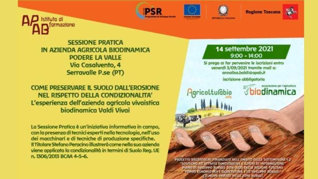 Sessione pratica 14 settembre progetto Valbioagri