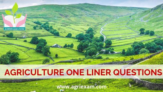 Agriculture Question Bank Agri Economics One Liner Questions