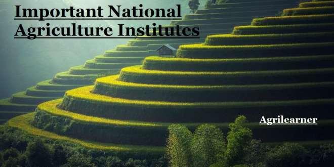 National Agriculture Institutes