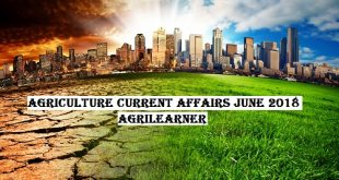 Agriculture Current Affairs June 2018