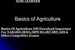 Basics Of Agriculture Pdf Download