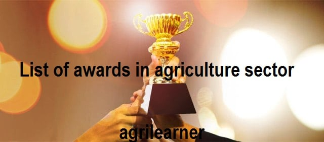 List of awards in agriculture sector