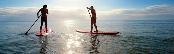 a standup paddle board