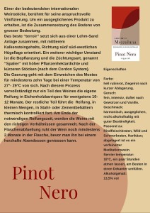 Schede Pinot Nero