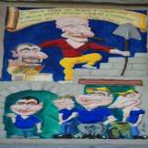 Dettaglio Agriturismo - Caricatura su Bassorielievo